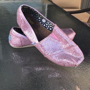 TOMS pink glitter